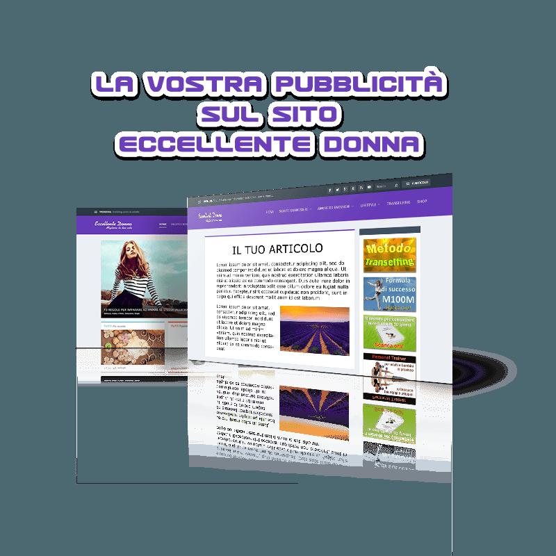 La vostra pubblicità sul sito Eccellente Donna